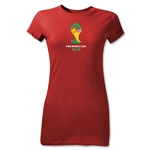 2014 FIFA World Cup Brazil(TM) Emblem Junior Women's T-Shirt (Red)