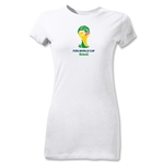 2014 FIFA World Cup Brazil(TM) Emblem Junior Women's T-Shirt (White)
