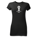2014 FIFA World Cup Brazil(TM) Junior Women's Emblem T-Shirt (Black)