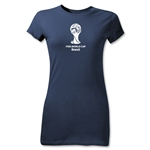 2014 FIFA World Cup Brazil(TM) Junior Women's Emblem T-Shirt (Navy)