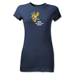 2014 FIFA World Cup Brazil(TM) Junior Women's Mascot T-Shirt (Navy)