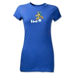 2014 FIFA World Cup Brazil(TM) Junior Women's Mascot T-Shirt (Royal)