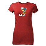 2014 FIFA World Cup Brazil(TM) Junior Women's Mascot T-Shirt (Red)