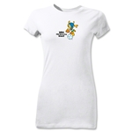 2014 FIFA World Cup Brazil(TM) Junior Women's Mascot T-Shirt (White)