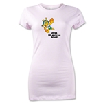 2014 FIFA World Cup Brazil(TM) Junior Women's Mascot T-Shirt (Pink)