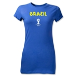Brazil 2014 FIFA World Cup Brazil(TM) Junior Women's Core T-Shirt (Royal)
