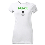 Brazil 2014 FIFA World Cup Brazil(TM) Junior Women's Core T-Shirt (White)