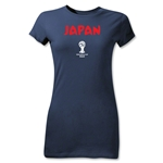 Japan 2014 FIFA World Cup Brazil(TM) Junior Women's Core T-Shirt (Navy)