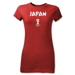 Japan 2014 FIFA World Cup Brazil(TM) Junior Women's Core T-Shirt (Red)
