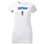 2014 FIFA World Cup Brazil(TM) Japan Core Junior Women's T-Shirt (White)