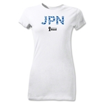 Japan 2014 FIFA World Cup Brazil(TM) Junior Women's T-Shirt (White)