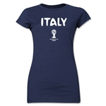 Italy 2014 FIFA World Cup Brazil(TM) Jr Women's Core T-Shirt (Navy)