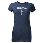 Argentina 2014 FIFA World Cup Brazil(TM) Jr Women's Core T-Shirt (Navy)