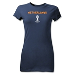 Netherlands 2014 FIFA World Cup Brazil(TM) Jr Women's Core T-Shirt (Navy)