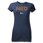 Netherlands 2014 FIFA World Cup Brazil(TM) Jr Women's Elements T-Shirt (Navy)