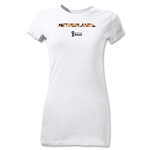 Netherlands 2014 FIFA World Cup Brazil(TM) Jr Women's Palm T-Shirt (White)