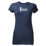 2014 FIFA World Cup Brazil(TM) Junior Women's Landscape T-Shirt (Navy)