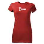 2014 FIFA World Cup Brazil(TM) Junior Women's Landscape T-Shirt (Red)