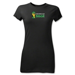2014 FIFA World Cup Brazil(TM) Junior Women's Landscape Emblem T-Shirt (Black)