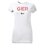 Germany 2014 FIFA World Cup Brazil(TM) Jr Women's Elements T-Shirt (White)