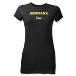 Germany 2014 FIFA World Cup Brazil(TM) Jr Women's Palm T-Shirt (Black)