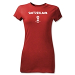 Switzerland 2014 FIFA World Cup Brazil(TM) Jr Women's Core T-Shirt (Red)