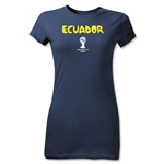 Ecuador 2014 FIFA World Cup Brazil(TM) Jr Women's Core T-Shirt (Navy)