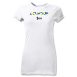 Ecuador 2014 FIFA World Cup Brazil(TM) Jr Women's Palm T-Shirt (White)