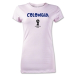 Colombia 2014 FIFA World Cup Brazil(TM) Jr Women's Core T-Shirt (Pink)