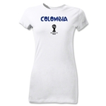 Colombia 2014 FIFA World Cup Brazil(TM) Jr Women's Core T-Shirt (White)