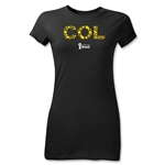 Colombia 2014 FIFA World Cup Brazil(TM) Jr Women's Elements T-Shirt (Black)