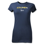 Colombia 2014 FIFA World Cup Brazil(TM) Jr Women's Palm T-Shirt (Navy)