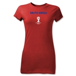 South Korea 2014 FIFA World Cup Brazil(TM) Junior Women's Core T-Shirt (Red)