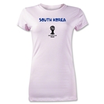 South Korea 2014 FIFA World Cup Brazil(TM) Junior Women's Core T-Shirt (Pink)