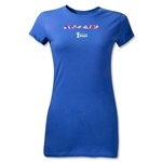 South Korea 2014 FIFA World Cup Brazil(TM) Junior Women's Palm T-Shirt (Royal)