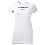 South Korea 2014 FIFA World Cup Brazil(TM) Junior Women's Palm T-Shirt (White)