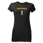 Australia 2014 FIFA World Cup Brazil(TM) Junior Women's Core T-Shirt (Black)