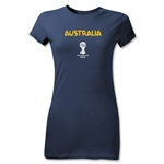 Australia 2014 FIFA World Cup Brazil(TM) Junior Women's Core T-Shirt (Navy)
