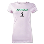 Australia 2014 FIFA World Cup Brazil(TM) Junior Women's Core T-Shirt (Pink)