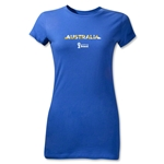 Australia 2014 FIFA World Cup Brazil(TM) Junior Women's T-Shirt (Royal)