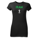 Iran 2014 FIFA World Cup Brazil(TM) Junior Women's Core T-Shirt (Black)