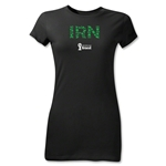Iran 2014 FIFA World Cup Brazil(TM) Junior Women's Elements T-Shirt (Black)