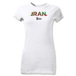 Iran 2014 FIFA World Cup Brazil(TM) Junior Women's Palm T-Shirt (White)
