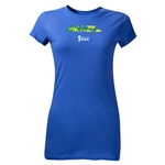 Brazil 2014 FIFA World Cup Brazil(TM) Junior Women's Palm T-Shirt (Royal)