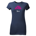 2014 FIFA World Cup Brazil(TM) Junior Women's All In One Rhythm T-Shirt (Navy)