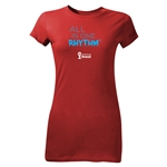 2014 FIFA World Cup Brazil(TM) Junior Women's All In One Rhythm T-Shirt (Red)