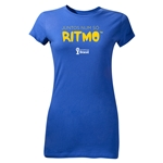 2014 FIFA World Cup Brazil(TM) Junior Women's Portugese All In One Rhythm T-Shirt (Royal)