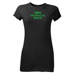 2014 FIFA World Cup Brazil(TM) Junior Women's Logotype T-Shirt (Black)