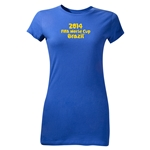 2014 FIFA World Cup Brazil(TM) Junior Women's Logotype T-Shirt (Royal)