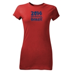 2014 FIFA World Cup Brazil(TM) Junior Women's Logotype T-Shirt (Red)